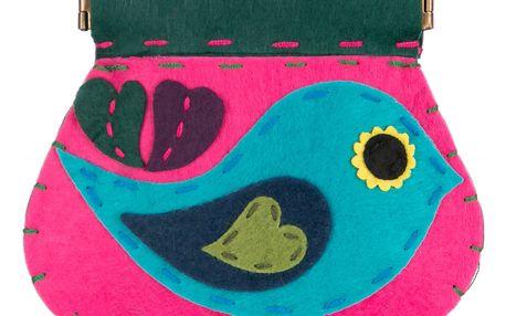 Fashion Icon Peněženka flísová Ptáček ruční práce