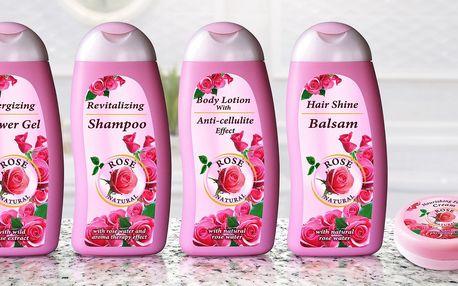 Balíčky kosmetických produktů s extraktem z růží