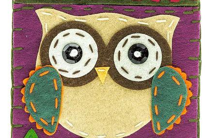 Fashion Icon Peněženka flísová HANDMADE sova na zip