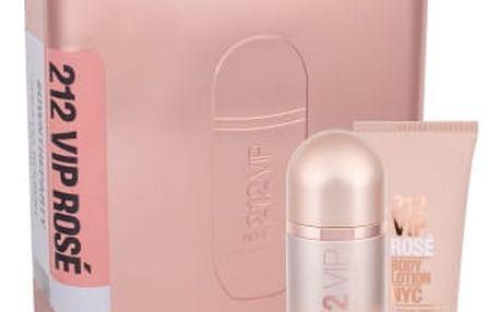 Carolina Herrera 212 VIP Rosé dárková kazeta pro ženy parfémovaná voda 80 ml + tělové mléko 100 ml