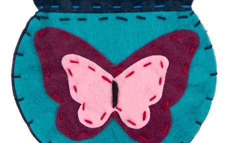 Fashion Icon Peněženka flísová ruční práce motýl