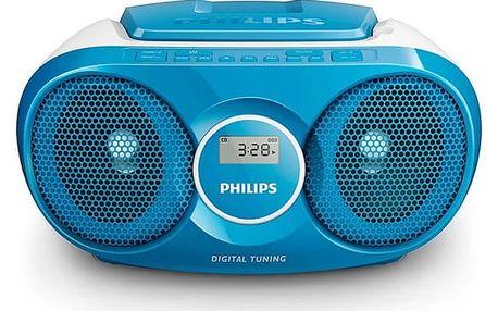 Radiopřijímač s CD Philips AZ215N modrý