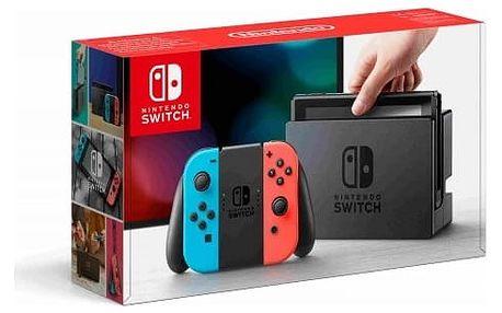 Herní konzole Nintendo Switch s Joy-Con - modro/ červená (NSH005) červená/modrá + DOPRAVA ZDARMA