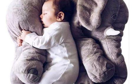 Obří plyšový slon - ŠEDÝ