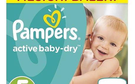 Plenky Pampers Active Baby Monthy Box S5 150 ks Mléčná kaše Nutrilon Pronutra krupicová s ovocem, 225g (zdarma) + Doprava zdarma