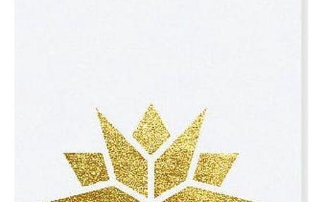 TAFELGUT Vánoční štítek Star White 6x10,5 cm, bílá barva, zlatá barva, papír