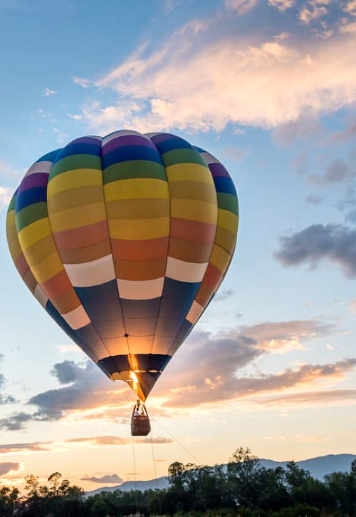 Let balónem jako dárek