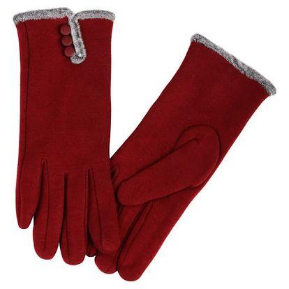 Dámské rukavice s kožíškem tmavě modrá