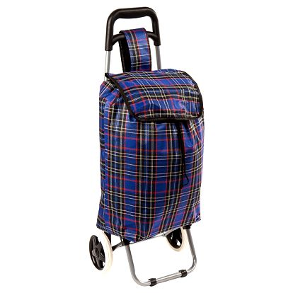 Nákupní taška na kolečkách Kostka modrá