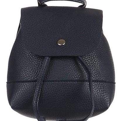 Malý koženkový batůžek modrá