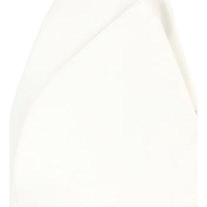 Asymetrický koženkový batoh bílá