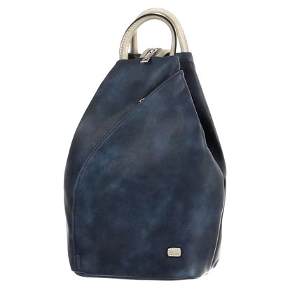 Asymetrický koženkový batoh modrá