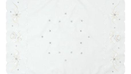 Forbyt Vánoční ubrus Zvonky bílá, 85 x 85 cm, 85 x 85 cm