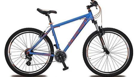 """Horské kolo Olpran EXTREME 27,5"""" modré/oranžové Reflexní sada 2 SportTeam (pásek, přívěsek, samolepky) - zelené + Doprava zdarma"""