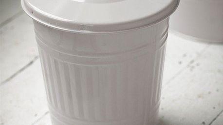 Garden Trading Malý odpadkový koš Chalk 10,5 L, bílá barva, kov