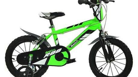 """Dětské kolo Dino Bikes 14"""" - zelené + Doprava zdarma"""