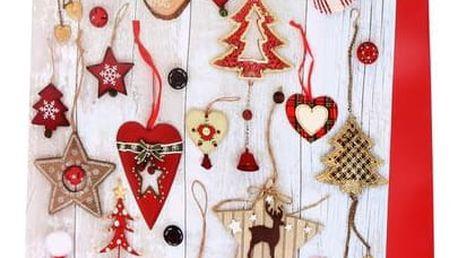 Vánoční dárková taška 44 x 31 x 12 cm