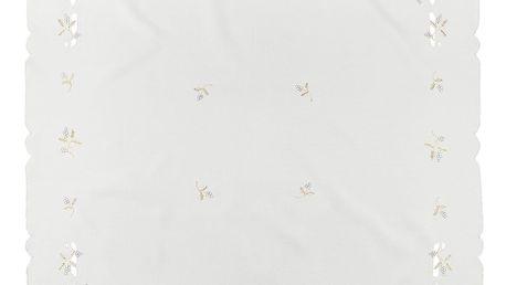 Forbyt Vánoční ubrus jmelí krémová, , 85 x 85 cm