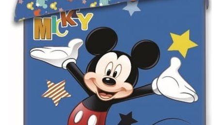Jerry Fabrics Dětské povlečení MICKEY STARS 140x200 70x90