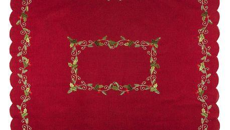 Forbyt Vánoční ubrus Cesmína červená, 120 x 140 cm, 120 x 140 cm