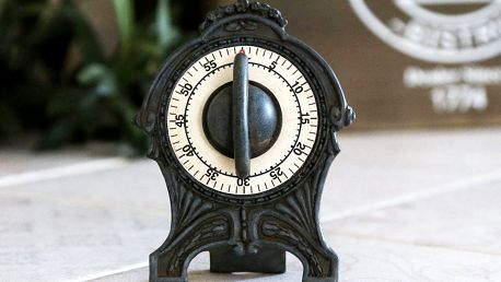 Chic Antique Kuchyňská minutka Antique grey, šedá barva, kov