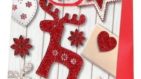 Vánoční dárková taštička 23 x 18 x 10 cm