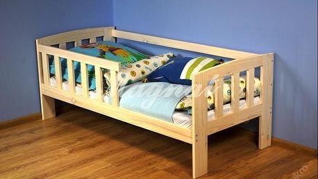 Dětská postel Ala 70 x 160 cm + matrace + rošt - dub