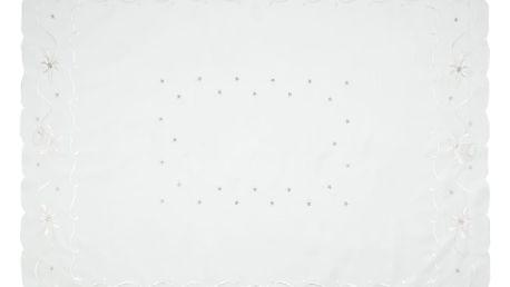 Forbyt Vánoční ubrus Zvonky bílá, 120 x 140 cm