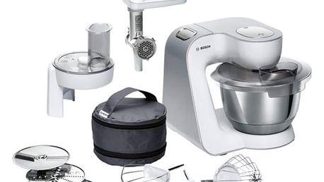 Kuchyňský robot Bosch CreationLine MUM58224 stříbrný/bílý + DOPRAVA ZDARMA