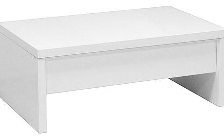 Konferenční stolek glossy, 100/40-64/60 cm