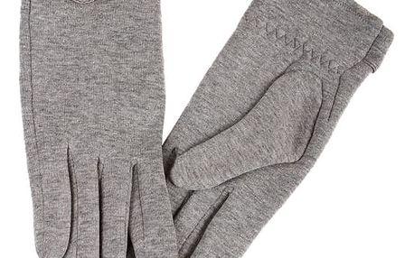 Dámské rukavice s ozdobnými knoflíky růžová