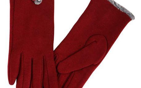 Dámské rukavice s kožíškem černá