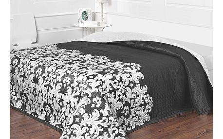 Forbyt Přehoz na postel Versaille černobílá, 140 x 220 cm
