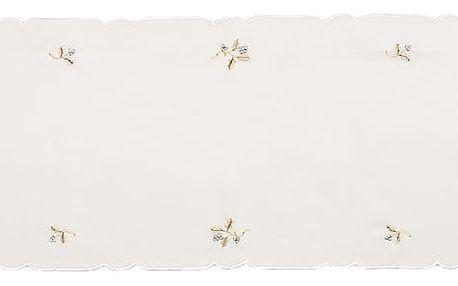 Forbyt Vánoční ubrus jmelí krémová, 35 x 160 cm