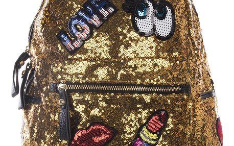 Fashion Icon Módní dámský baťůžek Pop Art s flitry