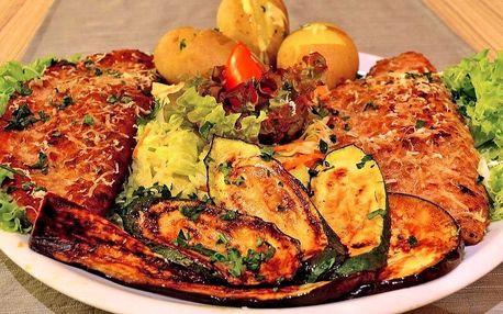 Plněná makedonská pljeskavice a opečené brambory