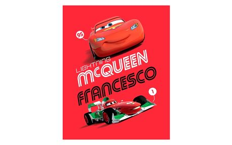 Jerry Fabrics dětská deka Cars red 2014