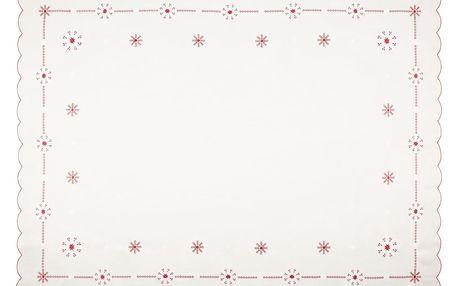 Forbyt Vánoční ubrus Vločky, 120 x 160 cm, 120 x 160 cm
