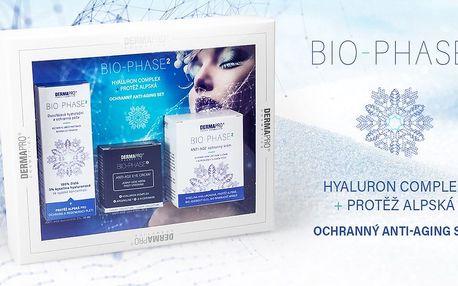Luxusní dárková kazeta BIO-PHASE2® s kyselinou hyaluronovou a protěží alpskou