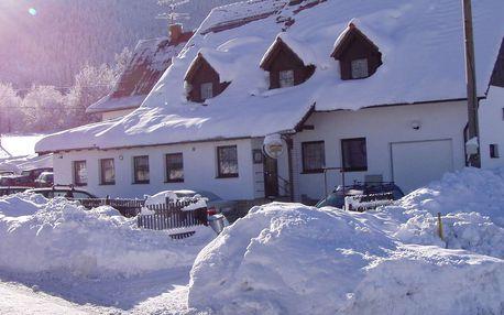 Zima v Hotelu U Lip na Pustevnách s polopenzí a saunou