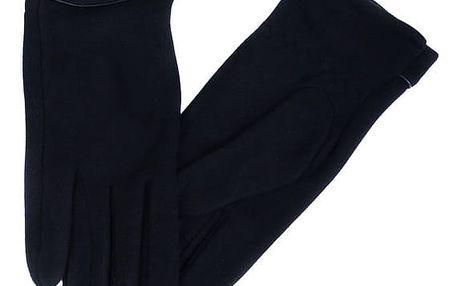 Dámské rukavice s ozdobnými knoflíky tmavě modrá