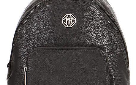 Koženkový batoh s přední kapsou šedá