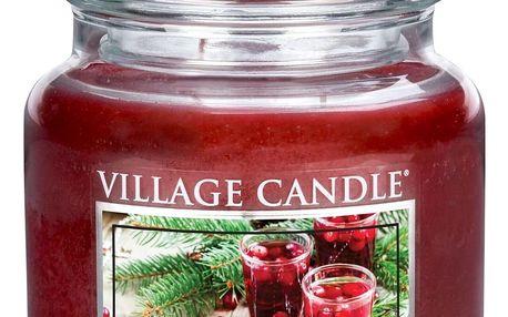 Village Candle Vonná svíčka ve skle, Vánoční brusinky - Festive Cranberry, 397 g