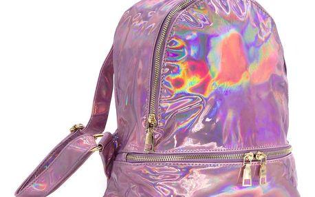 Fashion Icon Dámský batoh Rainbow lesklý mini