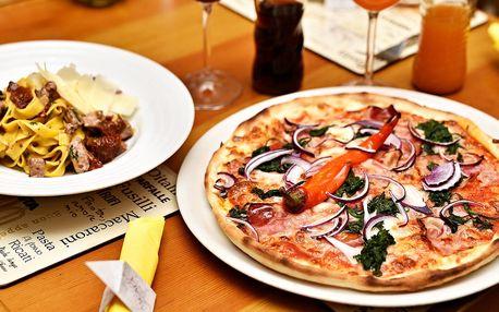 Skvělé menu s těstovinami či pizzou na Staromáku