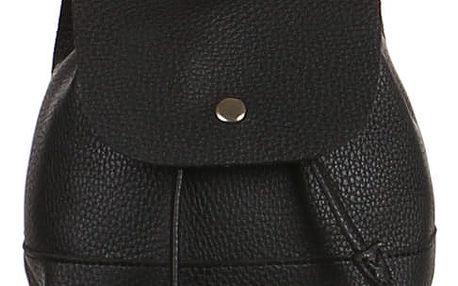 Malý koženkový batůžek černá