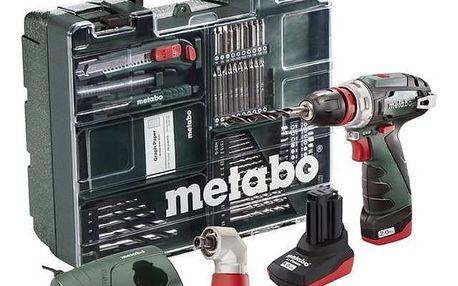 Aku vrtačka Metabo PowerMaxxBSQuickPro MD 1x2Ah zelená + Doprava zdarma