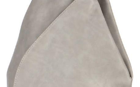 Asymetrický koženkový batoh šedá