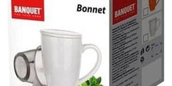 Baquet Hrnek s víčkem a nerezovým sítkem BONNET 350 ml, bílý2