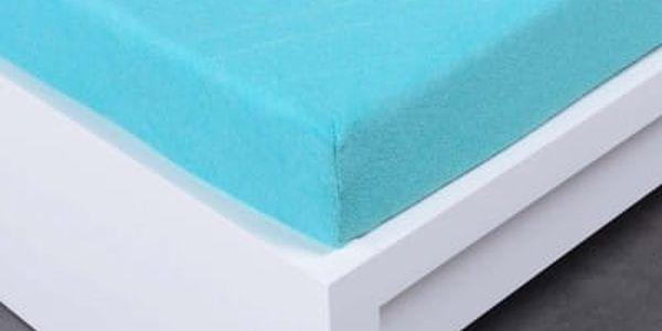 XPOSE ® Froté prostěradlo Exclusive dvoulůžko - azurová 180x200 cm